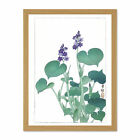 Blooming Hosta Ohara Koson Large Framed Art Print Wall Poster
