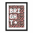 Leopard+Coral+And+Green+Bright+Words+Large+Framed+Art+Print+Wall+Poster