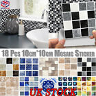 Wall Sticker Tile Brick Self-adhesive Mosaic Kitchen Bathroom Home Decal Decor
