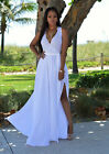 US Stock Womens Floral V-Neck Sexy Long Dress Ladies Maxi Holiday Summer Dresses