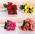 14 Heads Artificial 30cm Pansy Flower Plant Bunch Wedding Home Room Floral Decor