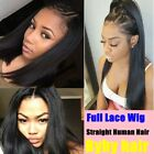 Brazilian Remy Human Hair Full Lace Front Wigs Straight 360 Lace Wig Pre Plucked