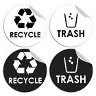Hot Symbol To Containers Garbage Recycle And Trash Home Decor Walls Sticker