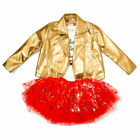 Disney Tutu Couture 3 Piece Set Minnie Mouse Gold Jacket Fancy Dress Outfit NEW