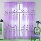 Window Curtains Sheer Voile Tulle for Bedroom Living Room Balcony Printed Tulip