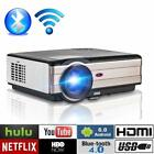 LED HD Projector Android WIFI Smart Home Theater Backyard Movie HDMI Proyector
