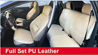 Tan PU Leather 5 Car Seat Cushion Covers Front Rear Lumbar w Pillows Dodge $64.5 USD on eBay