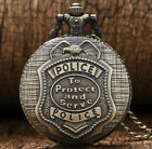 POLICE MENS POCKET WATCH CHAIN STEAMPUNK ANTIQUE SPIDER VINTAGE WATCHES UNISEX image