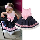 USA Baby Girl Toddler Party Tutu Dress Pageant Wedding Birthday Princess Dresses