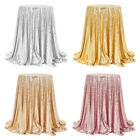 60/80/120cm Sequin Glitter Tablecloth Sparkly Material Cloth Wedding Party Decor