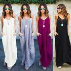 Womens Summer Boho Maxi Dress Evening Cocktail Party Beach Dresses Sexy Sundress