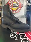 """Justin Work Boots Style # 767, 8"""" lace up, Safety Toe Black Leather"""