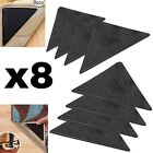 16 X  RUG CARPET MAT GRIPPERS RUGGIES NON SLIP SKID REUSABLE WASHABLE GRIPS