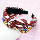 Women Fabric Alice Band Knot Hairbands Headbands Girl Floral Wide Hair Band