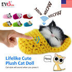 New Lifelike Cute Plush Cat Soft Doll Simulation Sound Kid Toys Gift 2019