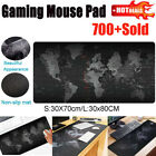 US Extra Large Mouse Pad World Map Mousepad Anti-slip Gaming Mat w/ Locking Edge