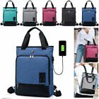 Unisex Anti-Theft Notebook Laptop Bag Travel School Bag USB Port 13