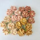 Внешний вид - 5 Big 45mm Gardenia Mulberry Paper Flowers Embellishment Scrapbooking