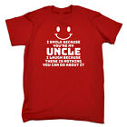 Funny Kids Childrens T-Shirt tee TShirt - I Smile Because Youre My Uncle