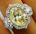 Luxury Citrine Gemstone Silver Promise Ring Wedding New Jewelry Gift Size6 10
