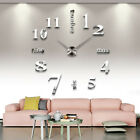 Huge 3D DIY Acrylic Mirror Sticker Numbers Wall Clock For Living Room and Modern