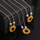 Charm Sunflower Pendant Chain Necklace Bride Choker Necklaces Jewelry Gifts New~