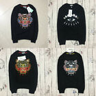 KENZO Paris Sweater Embroidery Tiger Head For Men Women 101% Cotton Sweaters