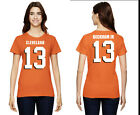 Odell Beckham Jr. Cleveland Browns #13 NFL Jersey Style Graphic T-Shirt Women's on eBay