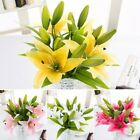 Artificial Flower Bouquet Tulip Rose Real Touch Bridal Wedding Supply Dec YSN
