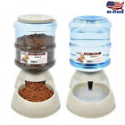 3.75L Pet Dog Cat Automatic Dispenser Feeder Bowl Bottle Food Device Dish