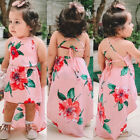 Kyпить US Summer Toddler Kids Baby Girls Sleeveless Clothes Flower Backless Party Dress на еВаy.соm