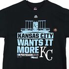 Kansas City Royals 2015 World Series CHAMPS Champions Postseason Black T-Shirt on Ebay