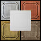 Tin Look Glue Up Ceiling Tiles Made of Styrofoam 20x20 R8 lot of 6 Diff Colors
