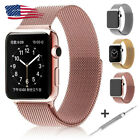 Milanese Loop Stainless Steel Band for Apple iWatch Series 4321 38/40/42/44mm US image