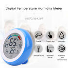 Touch Screen Temperature and Humidity Meter Digital Round Shape Indoor S4P2