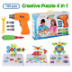 BeebeeRun 4 in 1 Electric Drill Toy Set, Creative Puzzles Assembly DIY Toy, Toy,