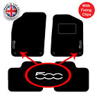 Fiat 500 2012+ Onwards Tailored Carpet Car Floor Mats With Unique Logos 4 Clips