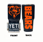 (YETI) Chicago Bears (Powder Coated tumbler 30 oz) NO VINYL on eBay