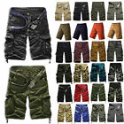 Mens Cargo Shorts Camo Camouflage Casual Combat Summer Gym Sport Work Half Pants