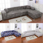 Sofa Covers L Shape 2pcs Polyester Fabric Stretch Slipcovers for Sectional Sofa