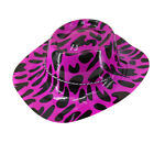 Glitter Cowboy Hat Adult Ladies Men Topper Bowler Hats Wild West Printed Hat
