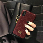 Luxury Wine Red GG Style Leather Phone Case For Apple iPhone11 pro Max XR XS 8 7