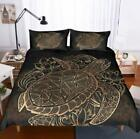 Turtle backed Sea Turtle Bedding Set Duvet Cover Comforter Cover Pillow Case New