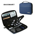 """BAGSMART 2-Layer Electronic Accessories Travel Organizer Cases 10.5"""" iPad Cables"""
