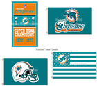 Miami Dolphins Flag 3x5 feet Mancave Indoor Outdoor NEW! FAST SHIPPING 30+Styles on eBay