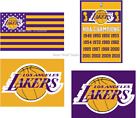 Los Angeles Lakers Purple Yellow NBA Flag 3x5 Ft Polyester Mancave FAST SHIPPING on eBay