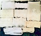 30Y LOT PREMIUM White Lace Trims WHOLESALE embroidery cotton tulle sewing diy