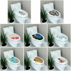 Stereo Toilet Seat Wall Sticker Bathroom Decoration Decal Pvc Mural  Beauty