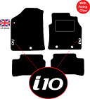 Hyundai I10 2014 Onwards Tailored Carpet Floor Car Mats With Logo & Fixing Clips