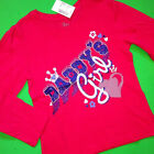 """NEW """"Daddy's Girl"""" Girls Graphic Shirt 18-24 Months 2T 3T 4T Gift Father Dad"""
